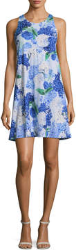 CeCe Women's Hydrangea Bouquet Twist Shift Dress