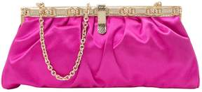 Roberto Cavalli Pink Cloth Clutch Bag