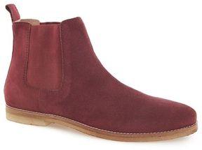 Topman Burgundy Suede Chelsea Boots
