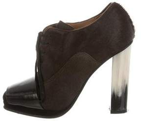 Dries Van Noten Ponyhair Round-Toe Booties