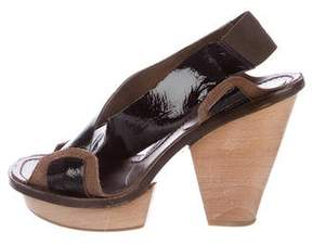 Marni Patent Leather Crossover Sandals