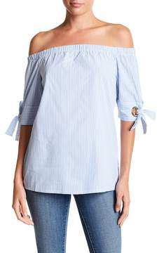 Noisy May Mira Off-the-Shoulder Tie Sleeve Top
