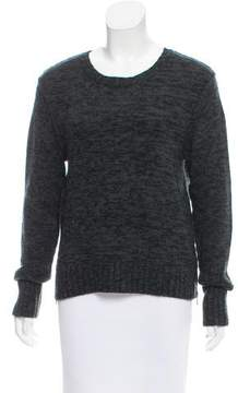 Autumn Cashmere Leather-Accented Cashmere Sweater