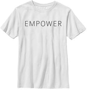 Fifth Sun White 'Empower' Crewneck Tee - Youth
