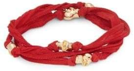 King Baby Studio Skull Beaded Wrap Bracelet