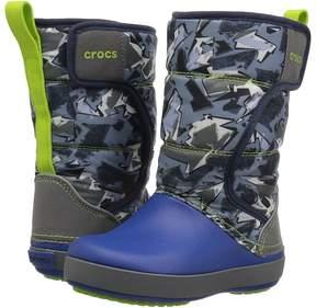 Crocs Lodge Point Graphic Snow Boot Kids Shoes