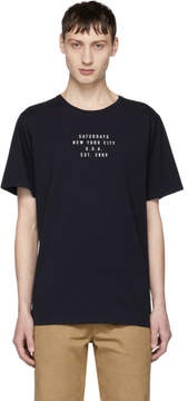 Saturdays NYC Navy Established Logo T-Shirt