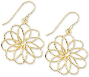 Essentials Openwork Flower Drop Earrings in Gold-Plate