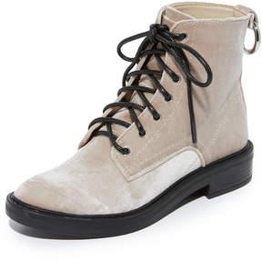 Dolce Vita Bardot Velvet Combat Boots