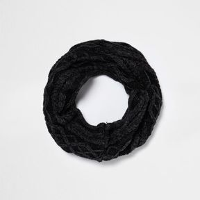 River Island Boys grey washed cable knit snood