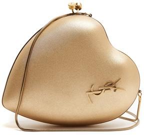 Saint Laurent Love lamé cross-body bag - GOLD - STYLE