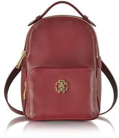 Roberto Cavalli Women's Burgundy Leather Backpack.