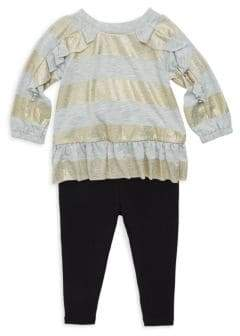 Splendid Baby Girl's Two-Piece Stripe Top and Leggings Set