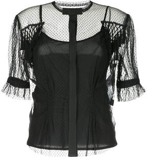 Antonio Marras sheer dotted blouse