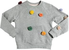 Molo Cotton Sweatshirt W/ Pompoms