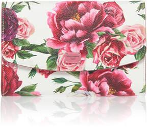 Dolce & Gabbana Roseto Floral-Print Leather Wallet