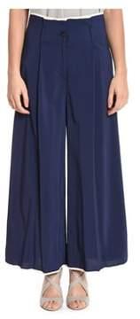 Suoli Women's Blue Viscose Pants.