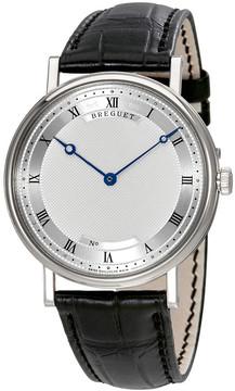 Breguet Classique Automatic Ultra Slim Silver Dial Leather Men's Watch