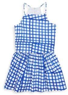 Milly Minis Toddler's, Little Girl's& Girl's Checked Cotton Dress
