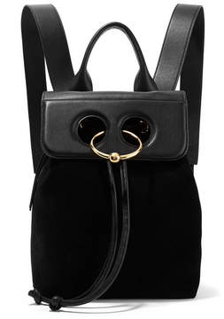 J.W.Anderson Pierce Mini Suede And Textured-leather Backpack - Black