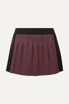 Fendi Karlito Polka-dot Stretch Tennis Skirt - Black