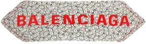 Balenciaga Logo & Dollars Printed Silk Twill Scarf