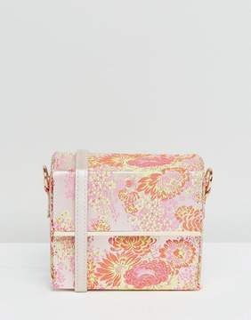 New Look Floral Print Box Cross Body Bag