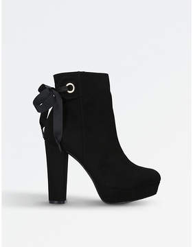 Miss KG Ladies Black Sheree Suede Ankle Boots