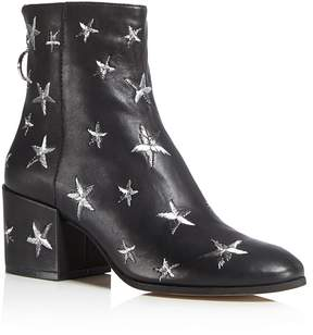 Dolce Vita Matteo Star Embroidered Leather Booties - 100% Exclusive