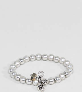Reclaimed Vintage Inspired Silver Beaded Bracelet Exclusive To ASOS