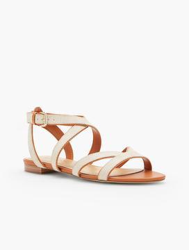 Talbots Keri Multi Straps Ankle-Strap Canvas Sandals