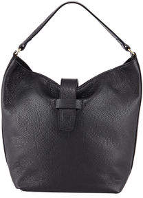 Neiman Marcus Convertible Pebbled Leather Bucket Bag