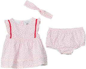 Absorba Girls' 3Pc Dress, Bloomer, & Headband Set