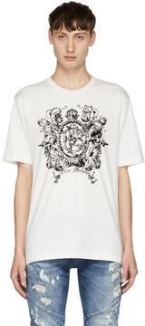 Pierre Balmain White Crown Logo T-Shirt