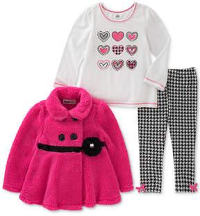 Kids Headquarters 3-Pc. Houndstooth Jacket, T-Shirt & Leggings Set, Little Girls (4-6X)