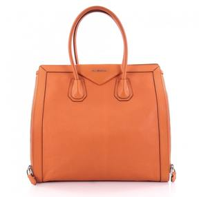 Givenchy Orange Leather Handbag