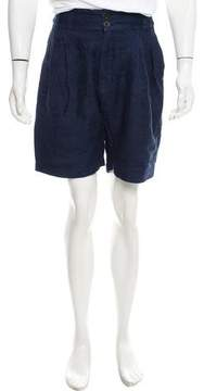 Damir Doma Flat Front Drop-Crotch Shorts