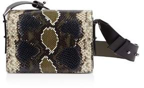 AllSaints Versailles Small Snakeskin-Embossed Leather Crossbody