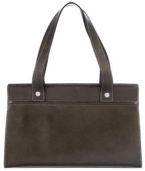 Burberry Metallic Handle Bag - BROWN - STYLE