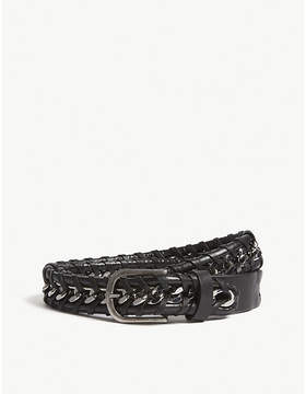 Zadig & Voltaire Chain braided leather belt