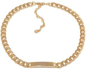 RJ Graziano Hit List Goldtone Curb-Link 15-3/4 ID Necklace