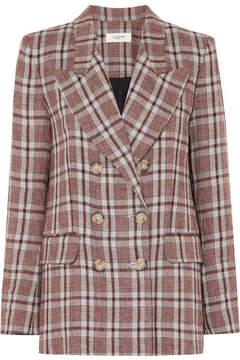 Etoile Isabel Marant Ianey Checked Linen Blazer - Red