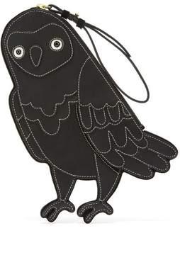 Oscar de la Renta Black Owl Pouch