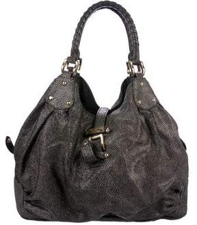 Halston Embossed Leather Tote