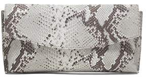 Banana Republic Snake-Effect Italian Leather Small Foldover Clutch