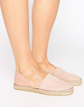 Pieces Jasha Blush 2 Part Suede Espadrilles