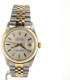 Rolex Datejust 1601 14K Yellow Gold and Stainless Steel Jubilee White Silver Dial Mens Watch