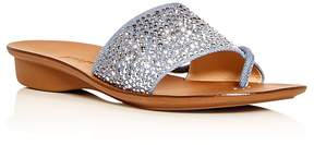 Paul Green Women's Pixie Embellished Denim Slide Sandals