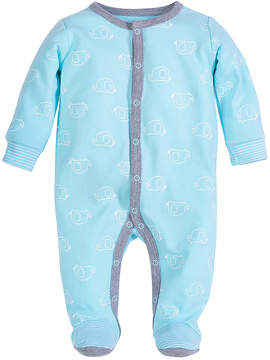 Petit Lem Blue Elephant Footie - Infant