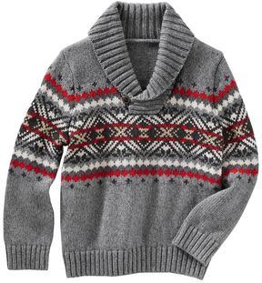 Osh Kosh Baby Boy Fairisle Pullover Shawl Sweater